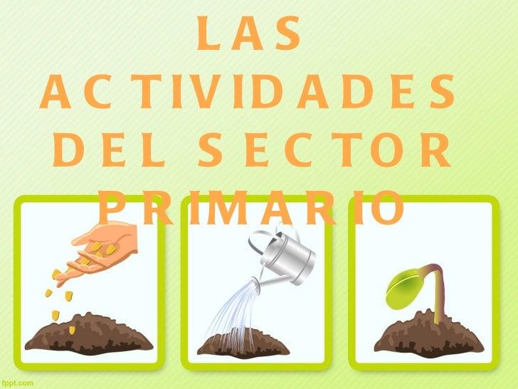 Tema 6. Las actividades del sector primario
