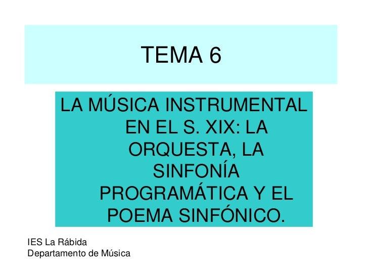 MUSICA PROGRAMATICA Y POEMA SINFONICO