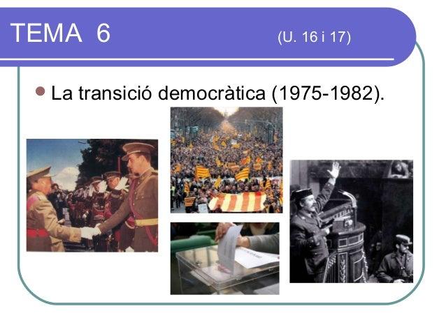 Tema 6. transició