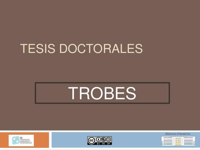 TESIS DOCTORALES      TROBES