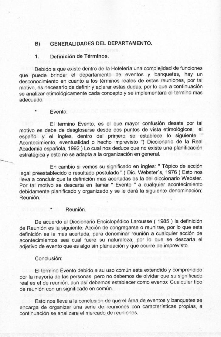~                      8)     GENERALIDADES       DEL DEPARTAMENTO.                   1.     Definición de Términos.      ...