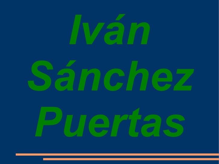 Iván Sánchez Puertas