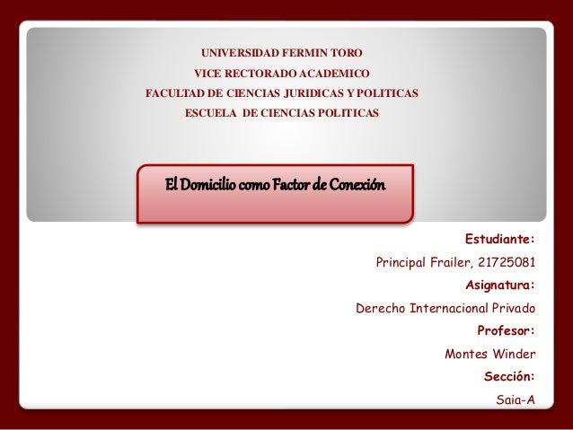 UNIVERSIDAD FERMIN TORO  VICE RECTORADO ACADEMICO  FACULTAD DE CIENCIAS JURIDICAS Y POLITICAS  ESCUELA DE CIENCIAS POLITIC...