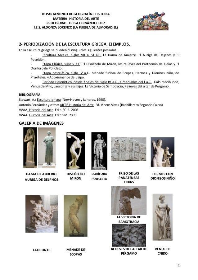 Escultura Griega Caracteristicas en la Escultura Griega se