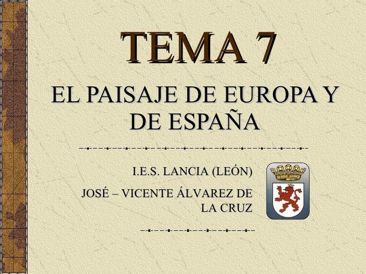 Tema 7   El Relieve De EspañA Y Europa