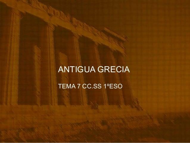 Tema 7 antigua grecia