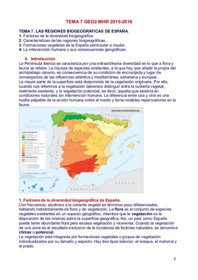Las regiones biogeográficas de España