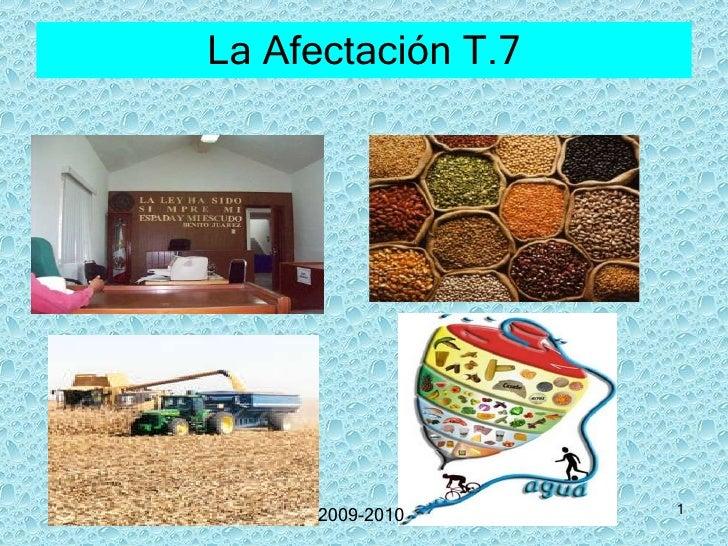 La Afectación T.7 2009-2010