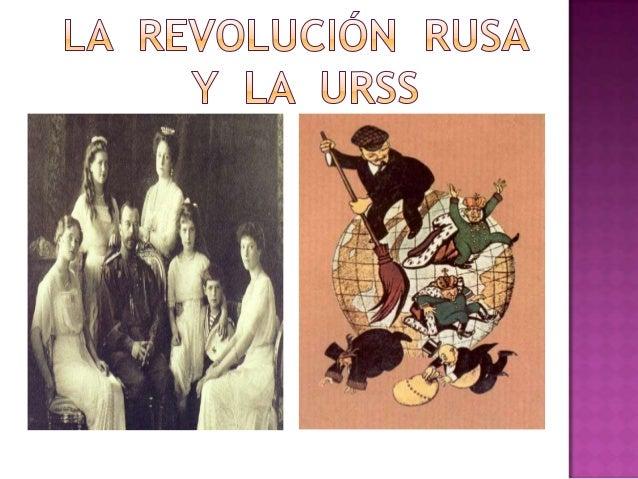 Tema 8.La  revolución  rusa  y  la  URSS