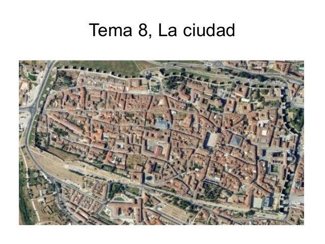 Tema 8 la ciudad