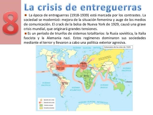 La época de entreguerras (1918-1939) está marcada por los contrastes. La sociedad se modernizó: mejora de la situación fem...