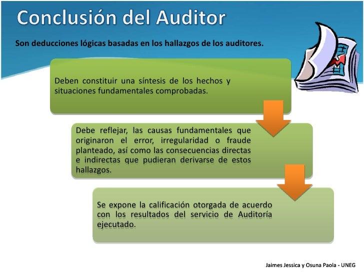Uneg As 2012 Pres9 Elaboraci 243 N Del Informe De Auditor 237 A