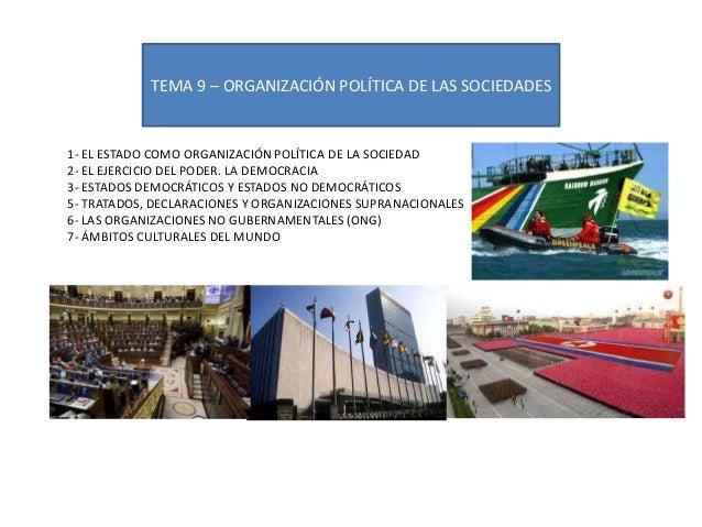 Tema 9 organizacion politica de las sociedades