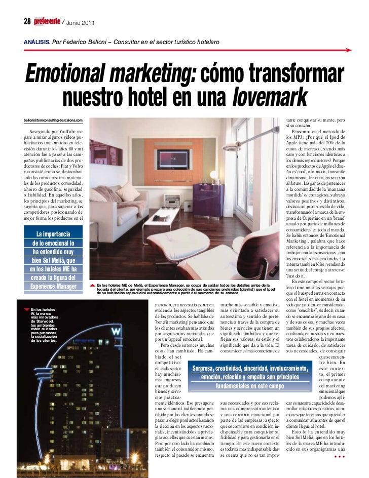 Emotional marketing (marketing emocional) en el sector turístico y hotelero