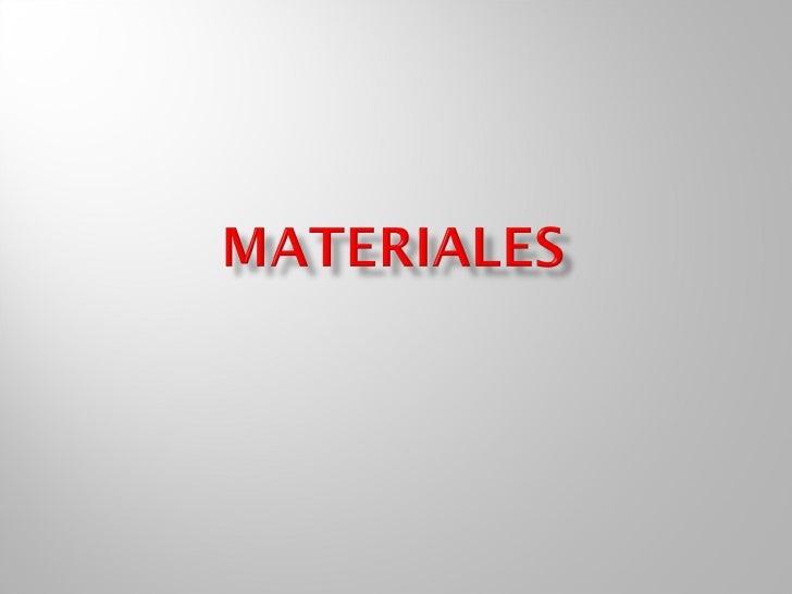 Tema de materiales