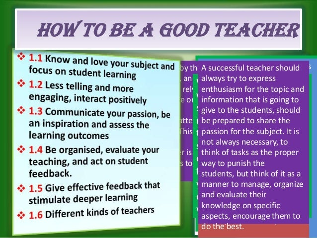 what makes an effective teaching and What makes effective teachers effective  effective teaching is much more than implementing a number of pedagogical principles and content knowledge it involves a .
