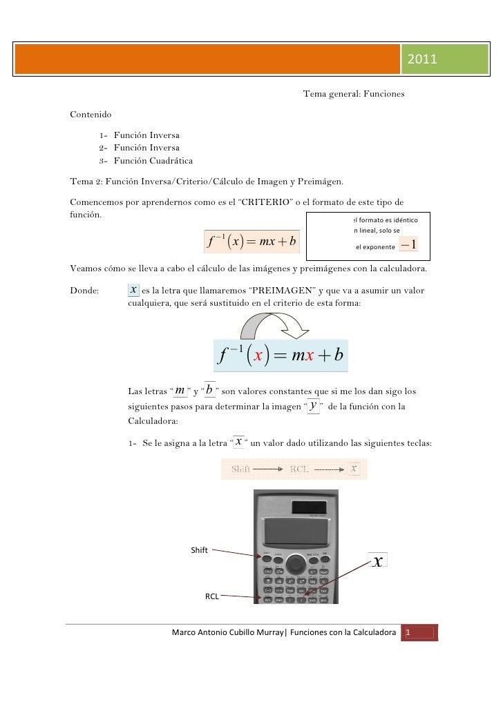 Funciones con Calculadora                                                                                    2011         ...