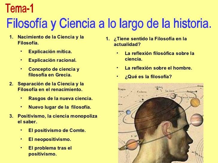Ciencia y Filosofía a lo largo de la historia