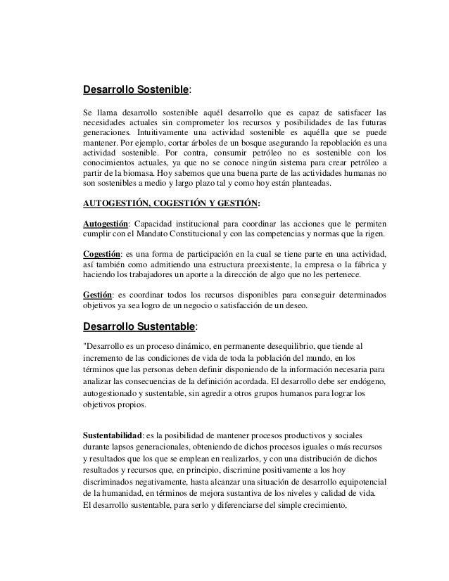 Tema III. Desarrollo Sostenible