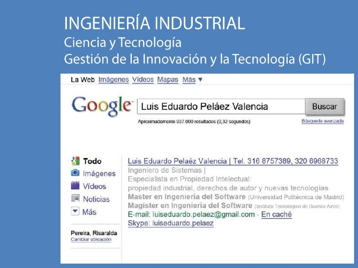 Ingeniería Industrial: gestión de la innovación y la tecnología