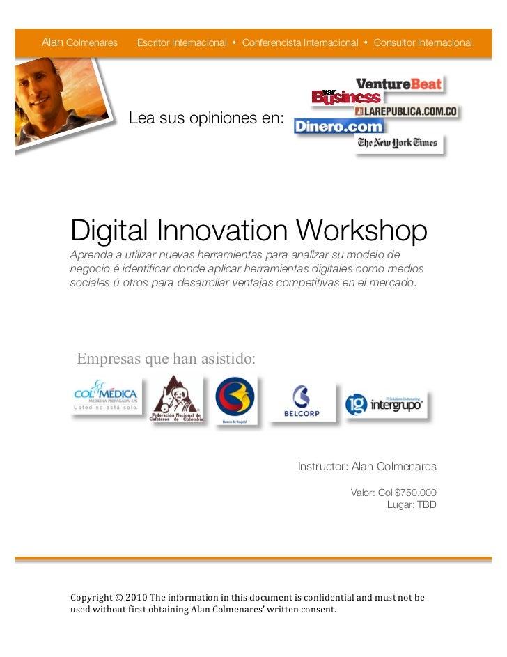 Digital Innovation workshop 2011