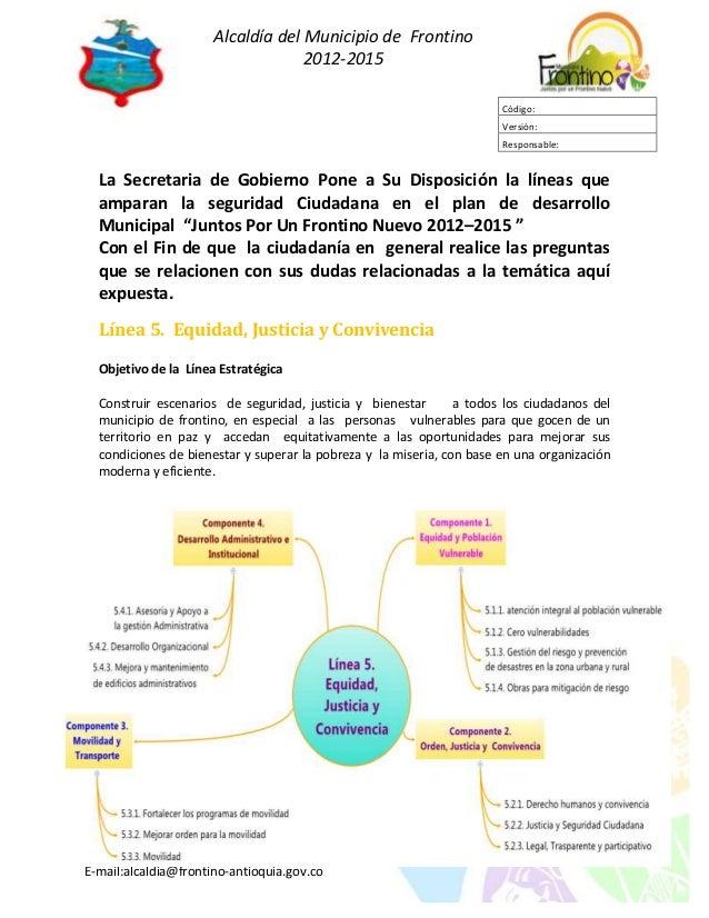Alcaldía del Municipio de Frontino                                   2012-2015                                            ...