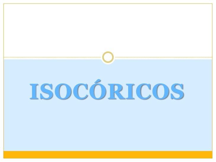 Isocóricos