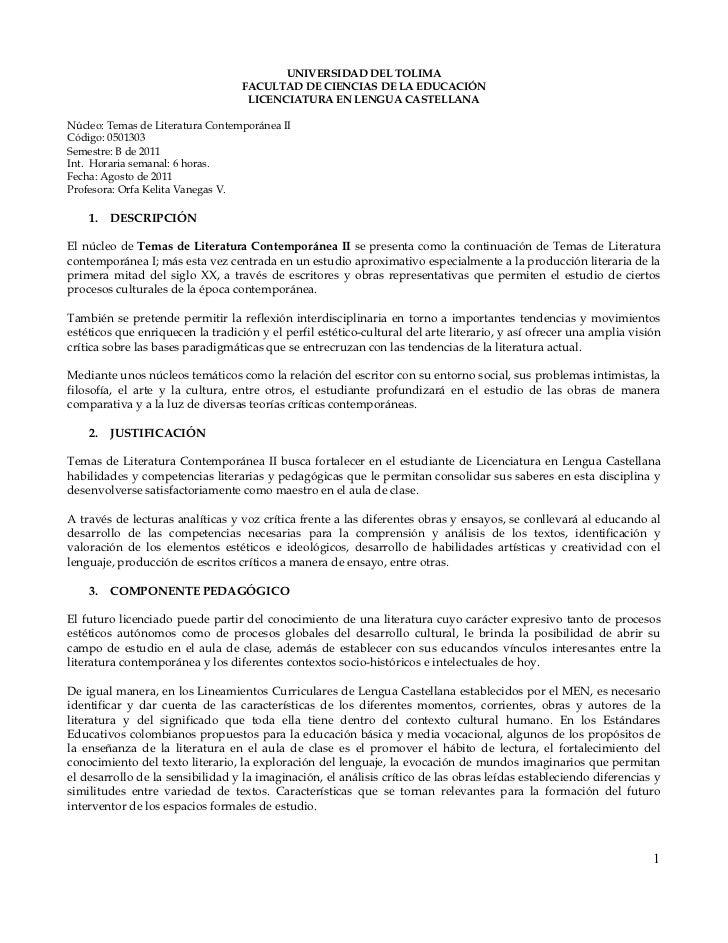 UNIVERSIDAD DEL TOLIMA                                   FACULTAD DE CIENCIAS DE LA EDUCACIÓN                             ...