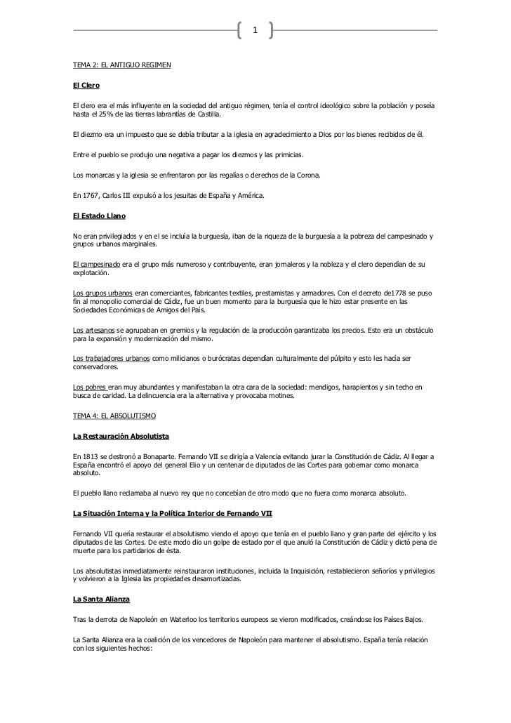 TEMA 2: EL ANTIGUO REGIMEN<br />El Clero<br />El clero era el más influyente en la sociedad del antiguo régimen, tenía el ...