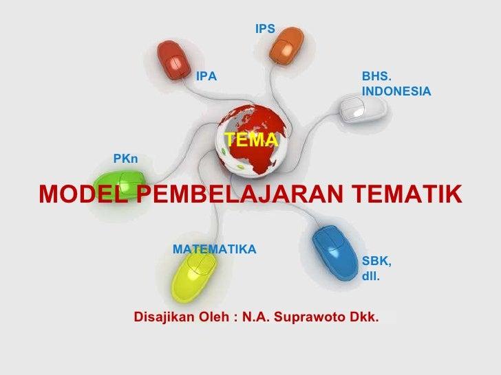 Free Powerpoint Templates MODEL PEMBELAJARAN TEMATIK IPA IPS BHS. INDONESIA PKn MATEMATIKA SBK, dll. TEMA Disajikan Oleh :...