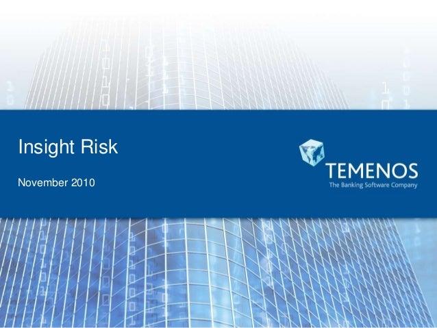 Temenos Insight Risk