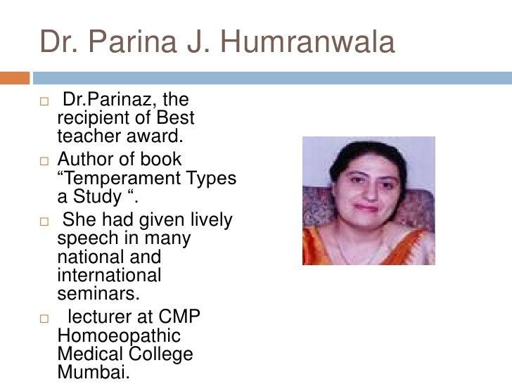 "Dr. Parina J. Humranwala<br />Dr.Parinaz, the recipient of Best teacher award.<br />Author of book ""Temperament Types a S..."