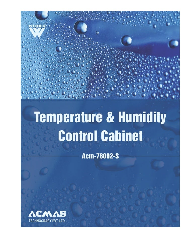 Temperature & Humidity      Control Cabinet                        Acm-78092-STECHNOCRACY PVT. LTD.