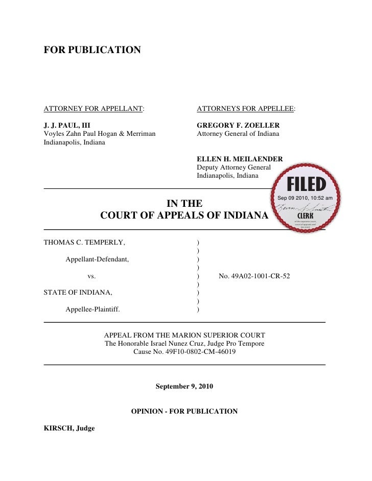 FOR PUBLICATIONATTORNEY FOR APPELLANT:                         ATTORNEYS FOR APPELLEE:J. J. PAUL, III                     ...