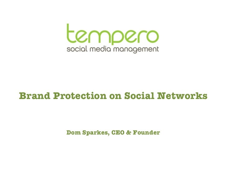 Tempero brand protection on social networks