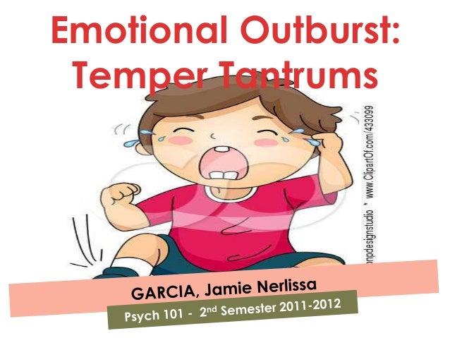 Temper Tantrums: Emotional Outbursts