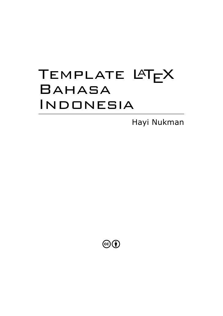 Template Latex: Buku