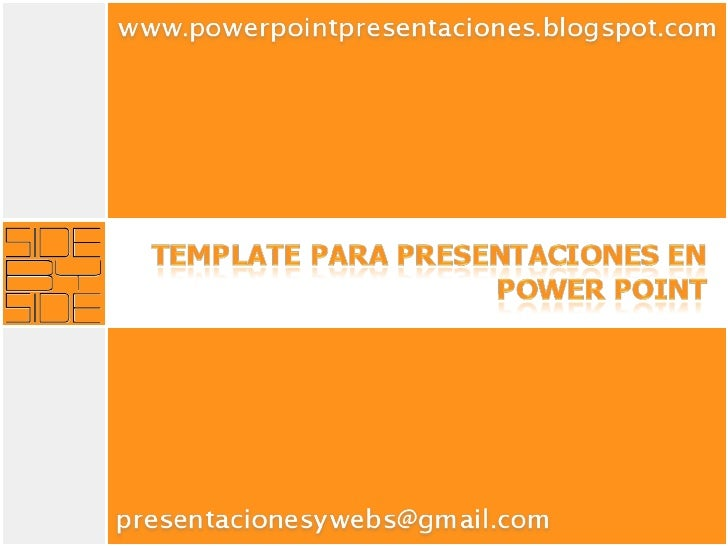 Power Point: Template para presentaciones