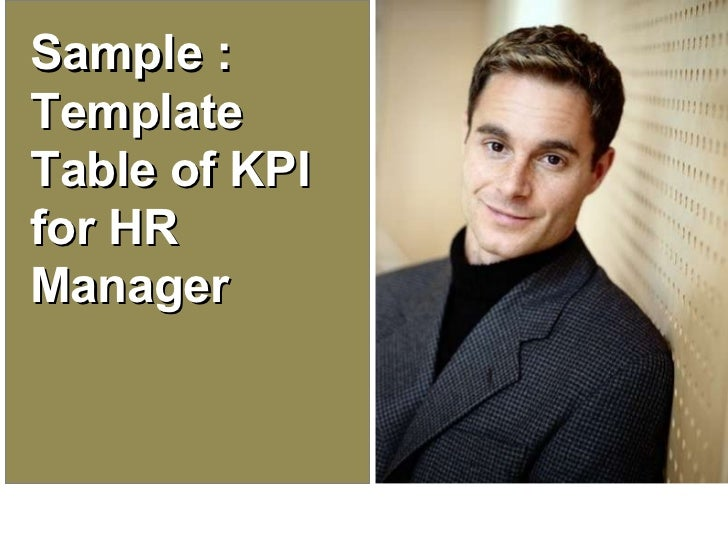 Sample : Template Table of KPI for HR Manager