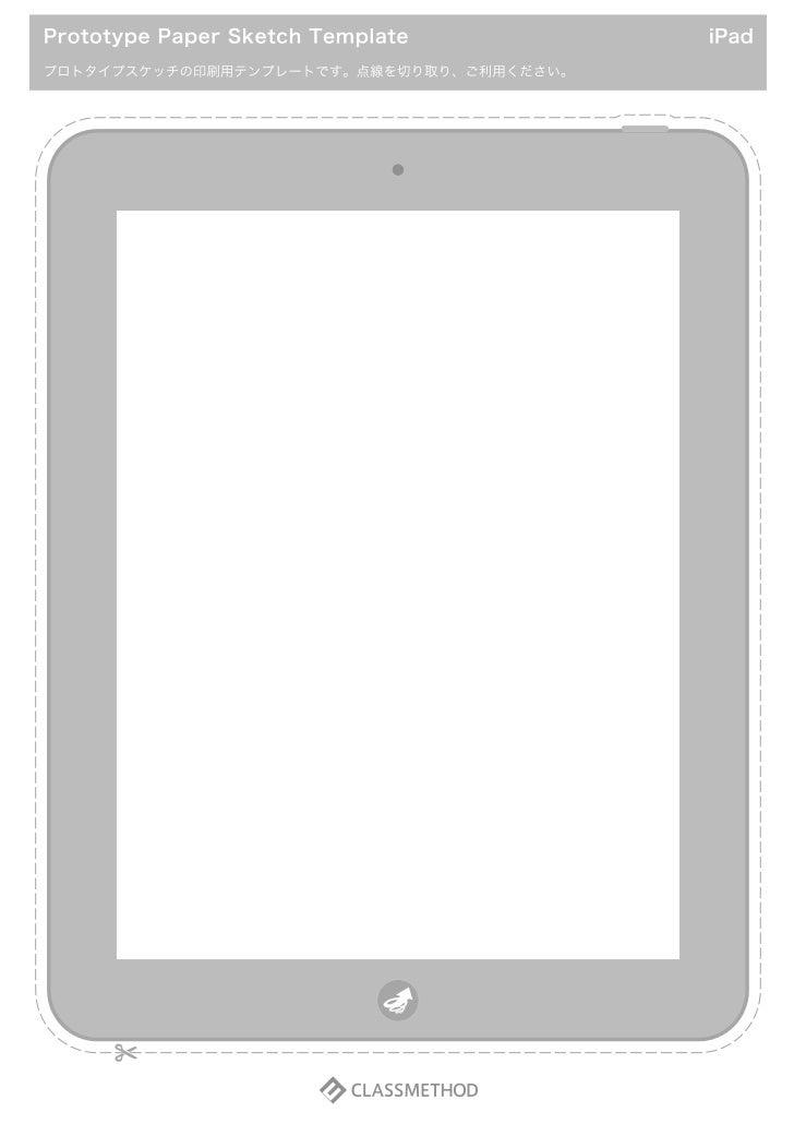 Template device ipad