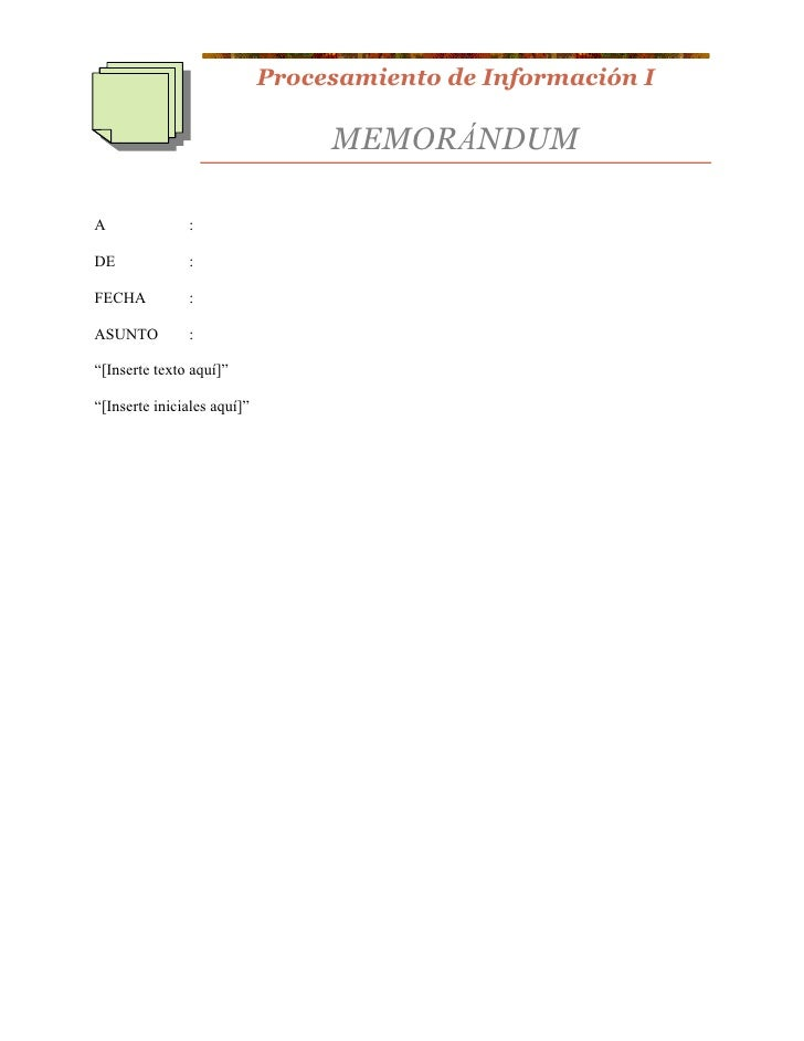 How to write a memo in spanish