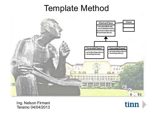 Design pattern template method