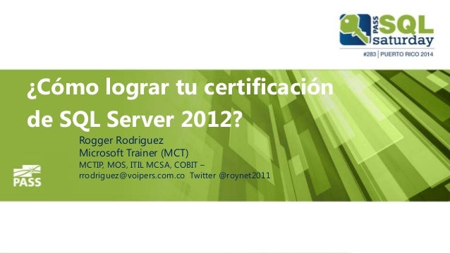 Certificate en SQL Server 2012 - Orientacion BI