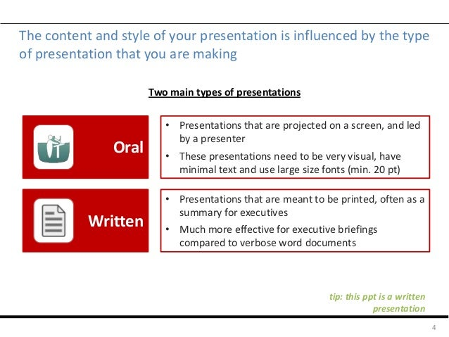 Slide guide for consulting-style presentations