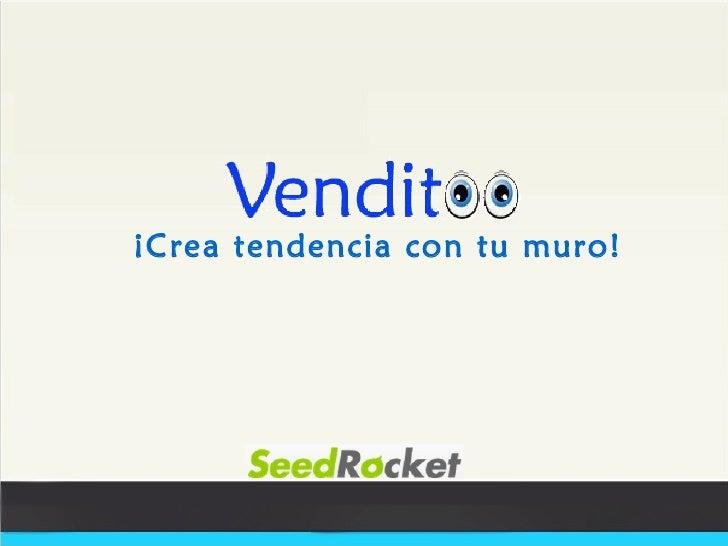 Venditoo.com - SeedRocket WeekEnd 2012