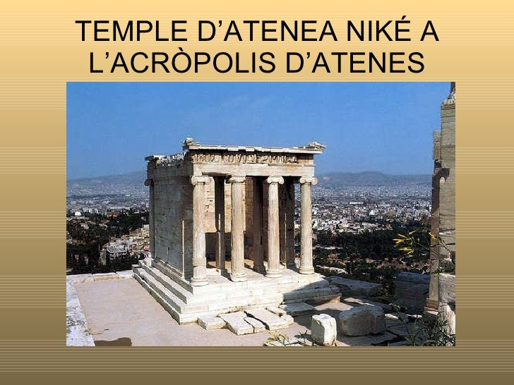 TEMPLE D'ATENEA NIKÉ A L'ACRÒPOLIS D'ATENES