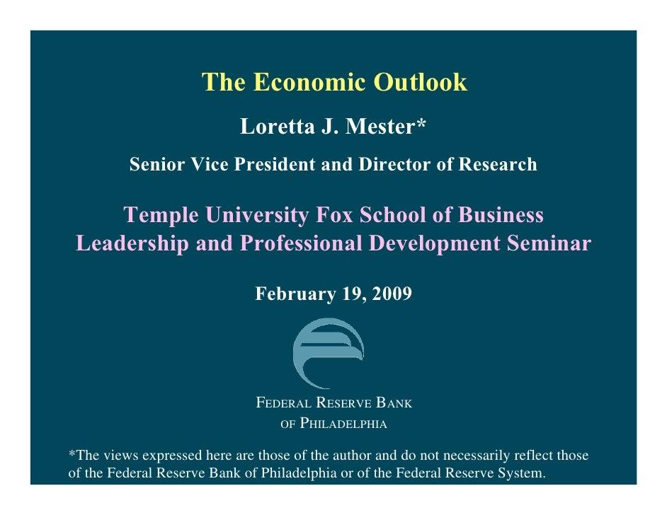 Temple Leadership Seminar Outlook Talk 2 19 2009