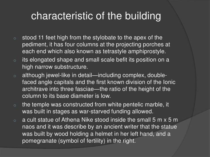 an analysis of the symbolism of the temple of athena nike an ancient greek temple Kallikrates purpose: temple geometric analysis the entrance of the temple of athena is lined with four 435bce, temple of athena, nike year: 435bce this shows a typical basic structure used by the ancient greeks for creating temples of worship for the many greek gods.