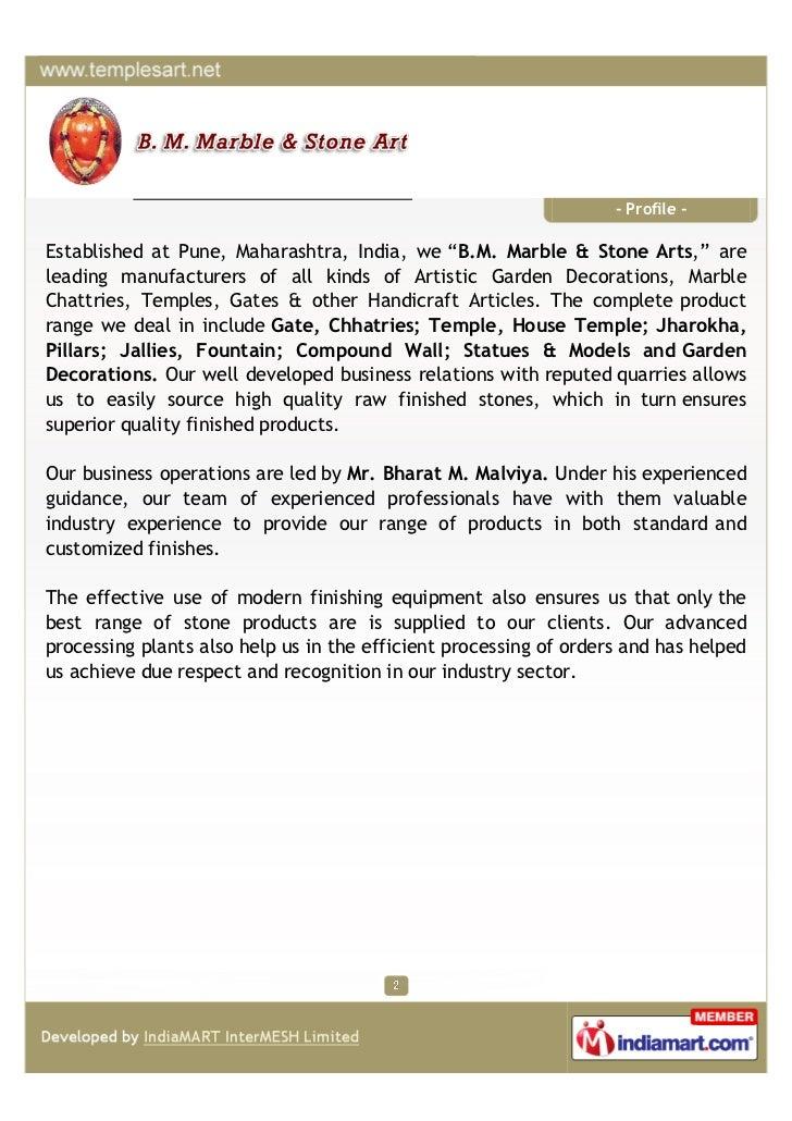 Handicraft India Pune Profile Established at Pune Maharashtra India we b m Marble Amp Stone