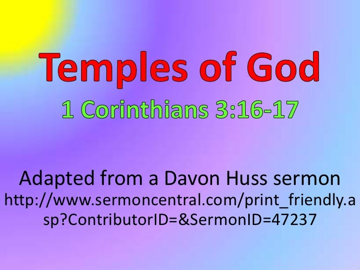 Adapted from a Davon Huss sermonhttp://www.sermoncentral.com/print_friendly.a      sp?ContributorID=&SermonID=47237